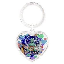 Peace On Earth Heart Keychain