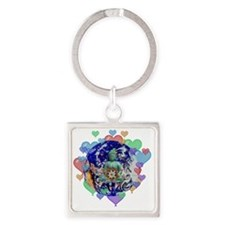 Peace On Earth Square Keychain