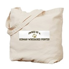 German Wirehaired Pointer: Ow Tote Bag