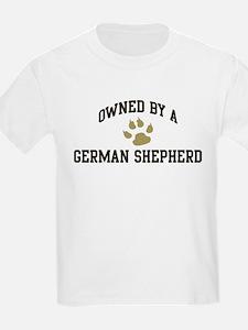 German Shepherd: Owned Kids T-Shirt