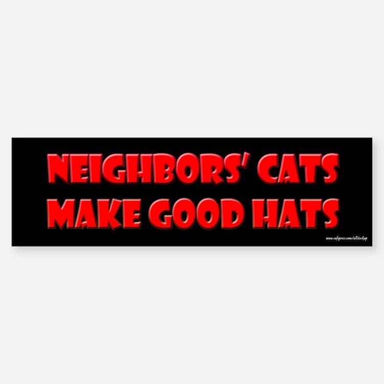 Cats Make Good Hats Bumper Bumper Bumper Sticker