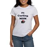 #1 Curling Mom Women's T-Shirt