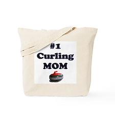 #1 Curling Mom Tote Bag
