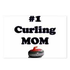 #1 Curling Mom Postcards (Package of 8)