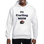#1 Curling Mom Hooded Sweatshirt