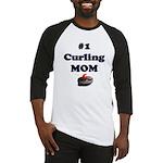 #1 Curling Mom Baseball Jersey