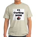 #1 Curling Mom Ash Grey T-Shirt