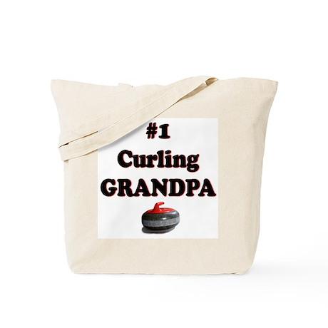 #1 Curling Grandpa Tote Bag