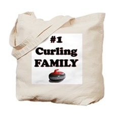 #1 Curling Family Tote Bag