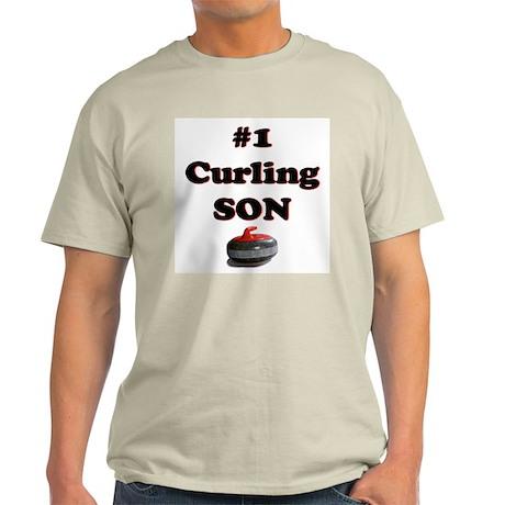 #1 Curling Son Ash Grey T-Shirt