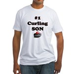 #1 Curling Son Fitted T-Shirt