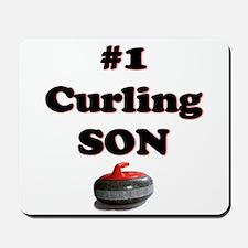 #1 Curling Son Mousepad