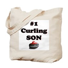 #1 Curling Son Tote Bag