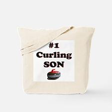 #1 Curling Son Tote Bag