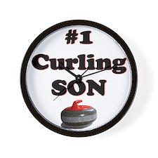 #1 Curling Son Wall Clock