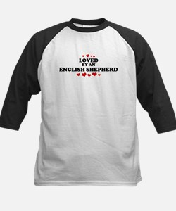Loved: English Shepherd Kids Baseball Jersey