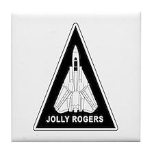 Vf-103 Jolly Rogers Tile Coaster