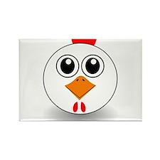 Cartoon Chicken Face Rectangle Magnet