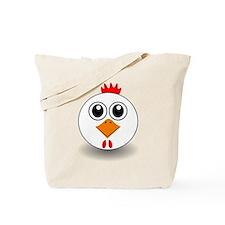 Cartoon Chicken Face Tote Bag