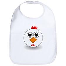 Cartoon Chicken Face Bib