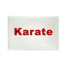 Karate Black Belt Rectangle Magnet (100 pack)