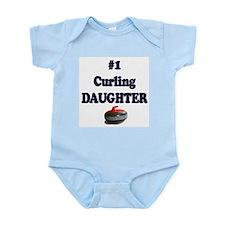 #1 Curling Daughter Infant Bodysuit
