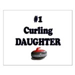 #1 Curling Daughter Small Poster