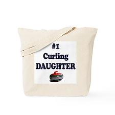 #1 Curling Daughter Tote Bag