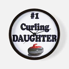 #1 Curling Daughter Wall Clock