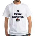 #1 Curling Daughter White T-Shirt