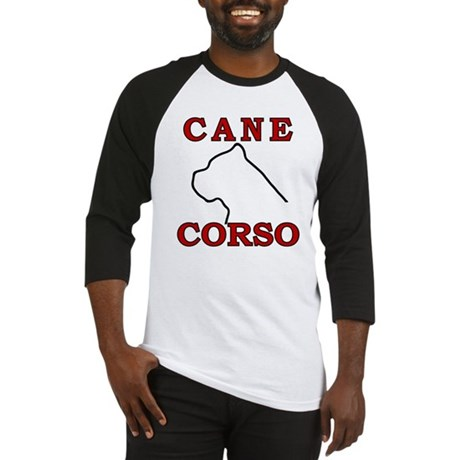 Cane Corso Logo Red Baseball Jersey