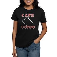 Cane Corso Logo Red Tee