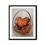 Eggs in Glass Vessel Framed Panel Print