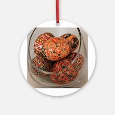 Eggs in Glass Vessel Ornament (Round)