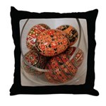 Eggs in Glass Vessel Throw Pillow