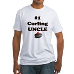 #1 Curling Uncle Fitted T-Shirt