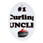 #1 Curling Uncle Oval Ornament