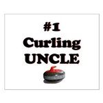 #1 Curling Uncle Small Poster