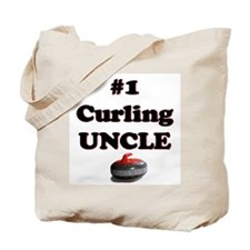 #1 Curling Uncle Tote Bag