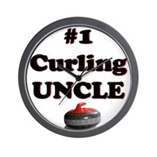 #1 Curling Uncle Wall Clock