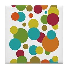 Retro Dots Tile Coaster