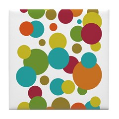 Retro Dots Tile Coaster