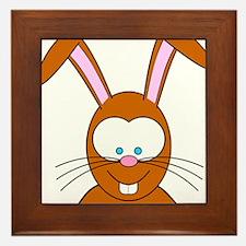 Cartoon Bunny Rabbit Face Framed Tile