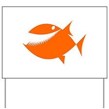 Orange Fish Yard Sign