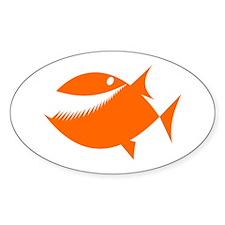 Orange Fish Decal