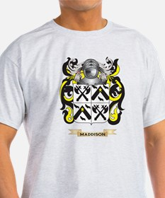 Maddison Coat of Arms - Family Crest T-Shirt