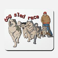 Dog sled race Mousepad