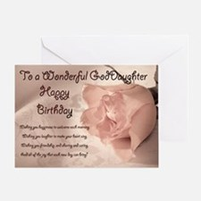For god daughter, elegant rose birthday card. Gree