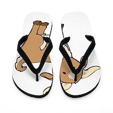Cartoon Billy Goat Flip Flops