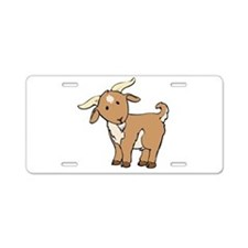 Cartoon Billy Goat Aluminum License Plate